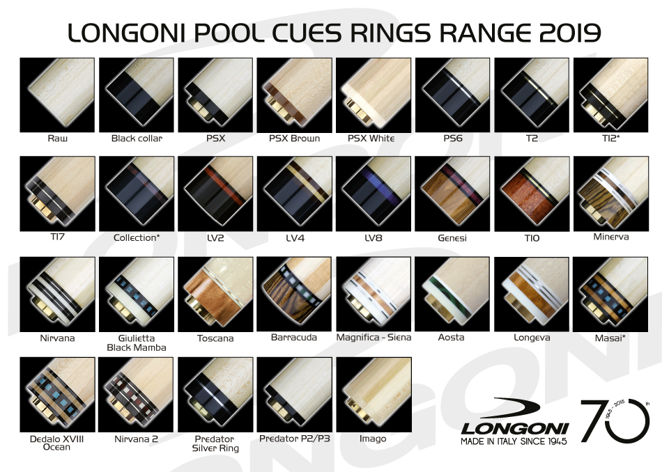 Longoni pool shafts 2019 range